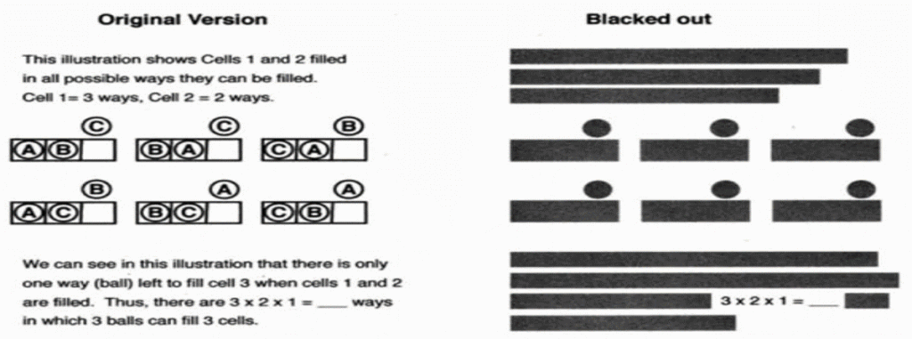 Figure 1. Frame in original presentation (left) and in the blackout version (right). Courtesy of the Society for the Experimental Analysis of Behavior.