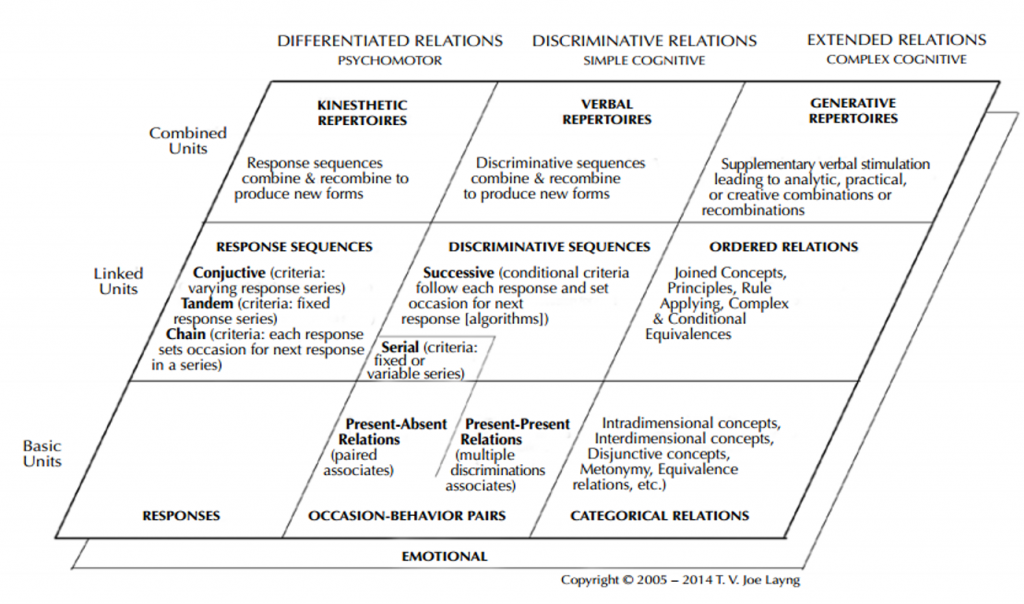Figure 2. Matrix depicting a categorization of types of learning